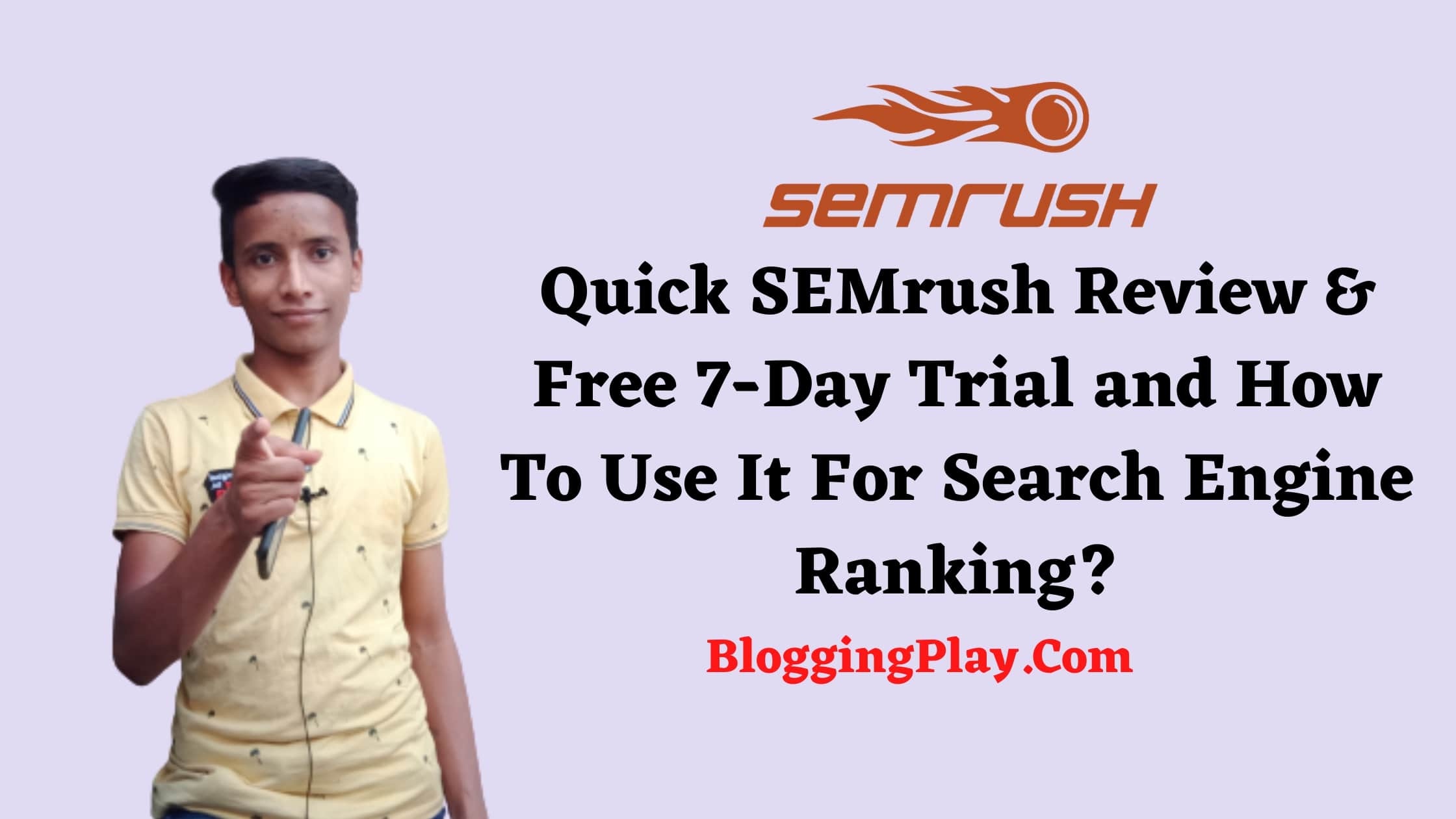 SEMrush free trial 7-day